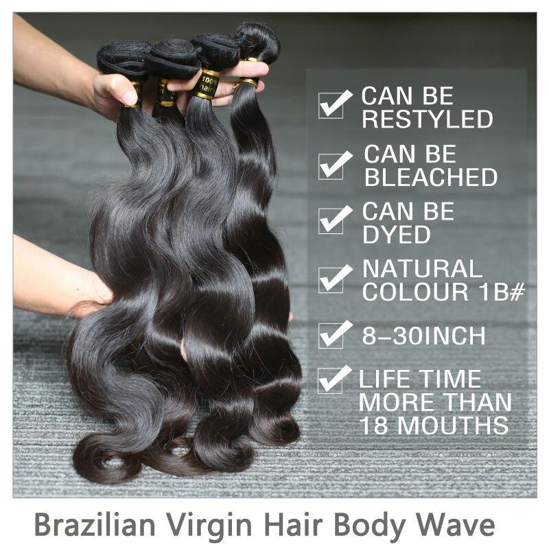 Бразильские волосы Rosabeauty 10 А, волнистые волосы, 1/3/4 шт., 100% необработанные человеческие волосы, волнистые пучки 6-28 дюймов, натуральные волосы...