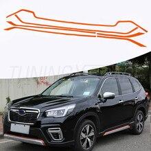 6 штук дверь тела литья защитная решетка наклейки для Subaru Forester