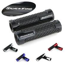 цена For Honda FSC600 Silver Wing Motorcycle Accessories CNC Aluminum and Rubber Handle Bar Grip Handle Bar онлайн в 2017 году