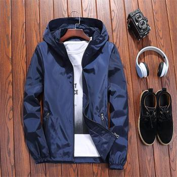 new Mens Casual Camouflage Hoodie Jacket Men Waterproof Thin Bomber Men's Windbreaker Coat Male Military Outwear Homme S- 5XL