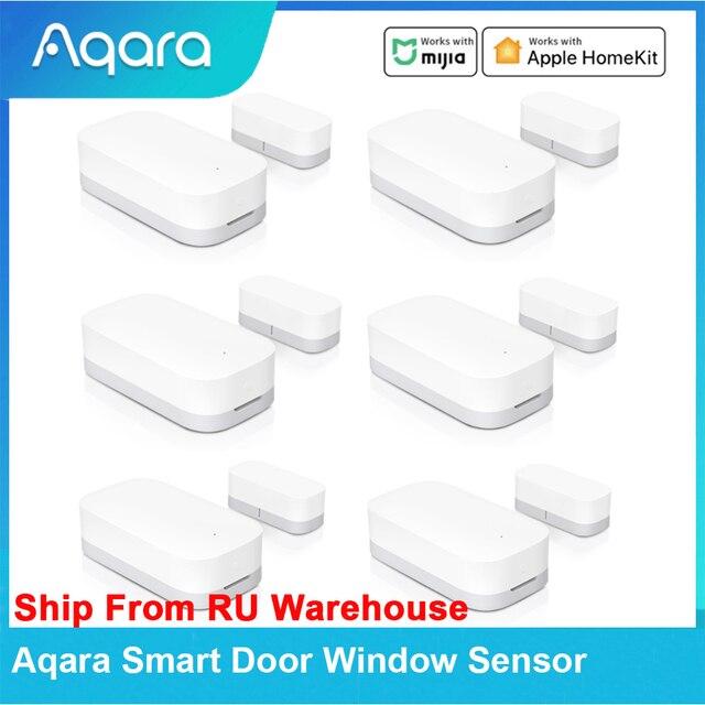 In Stock Aqara Smart Door Window Sensor Zigbee Wireless Connection Remote Control Smart Home Work With Mijia APP Apple Homekit 1