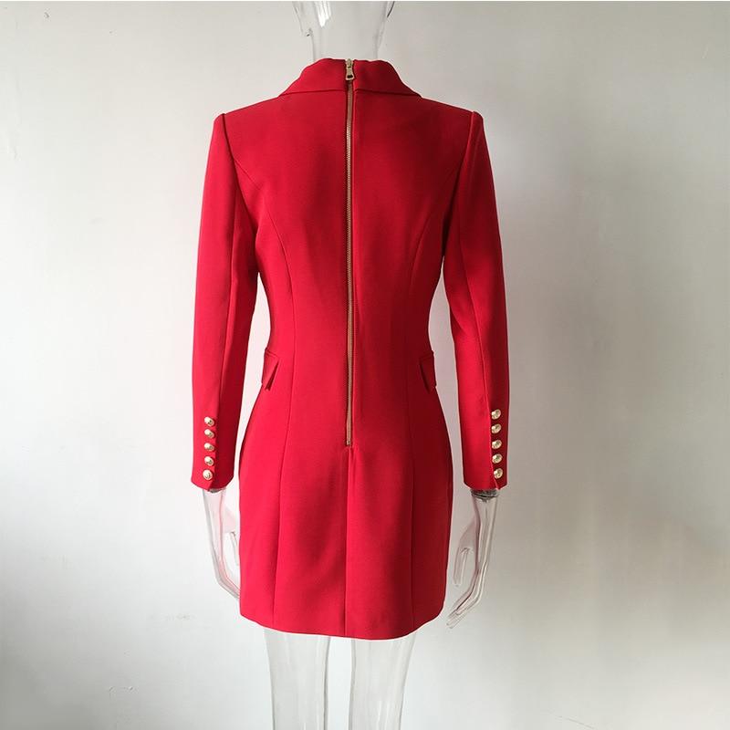 High Quality Spring Long Blazer Women 2020 New Office Lady Elegant Solid Double Breasted Suit Female Three Quarter Slim Blazer