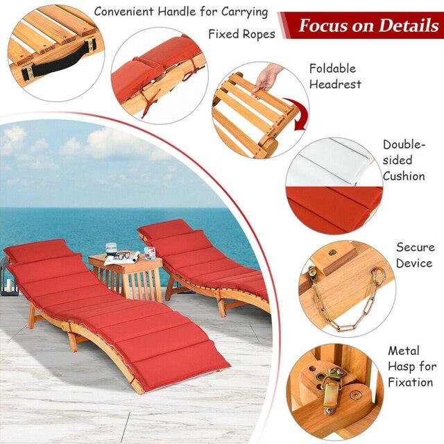 3PCS  Patio Lounge Chair Set  6