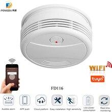 Rookmelder Wifi Rookmelder Tuya Smartlife App Android Ios Controle Fire Bescherming Draagbare Alarm Detector