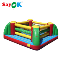 Customized Inflatable Boxing Ring Bounce House,Inflatable Boxing Jumping Bouncer for Game