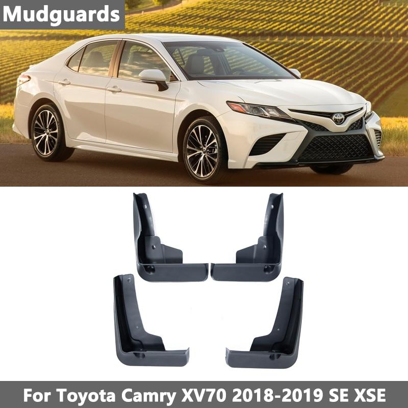 Комплект литых автомобильных брызговиков для Toyota Camry 2018 2019 Base SE XSE XV70, брызговики, брызговики, грязеотталкивающие Брызговики, брызговики, Ста...