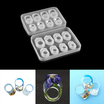 1pcs DIY Crystal Epoxy Ring Silicone Mold UV Resin Molds Jewelry Moulds Accessories Tools