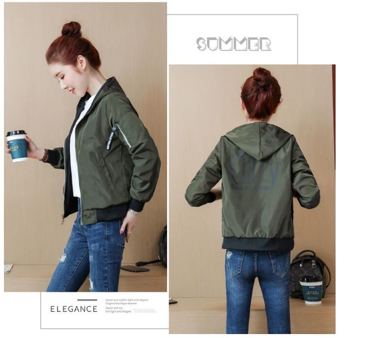 Hd90ce5c87c3645b683bc18f44a387d4b8 Windbreak Jacket Women Long Sleeve Hooded Coats Spring Autumn Casual Solid Zip Up Basic Jackets for Women