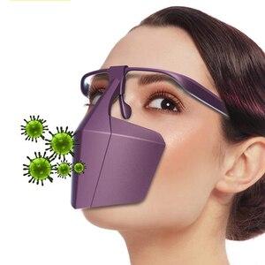 Image 4 - Protetor de boca rosto protetor máscaras faceshell anti respingo escudo dropletproof escudos anti infecção isolamento proteção da tela