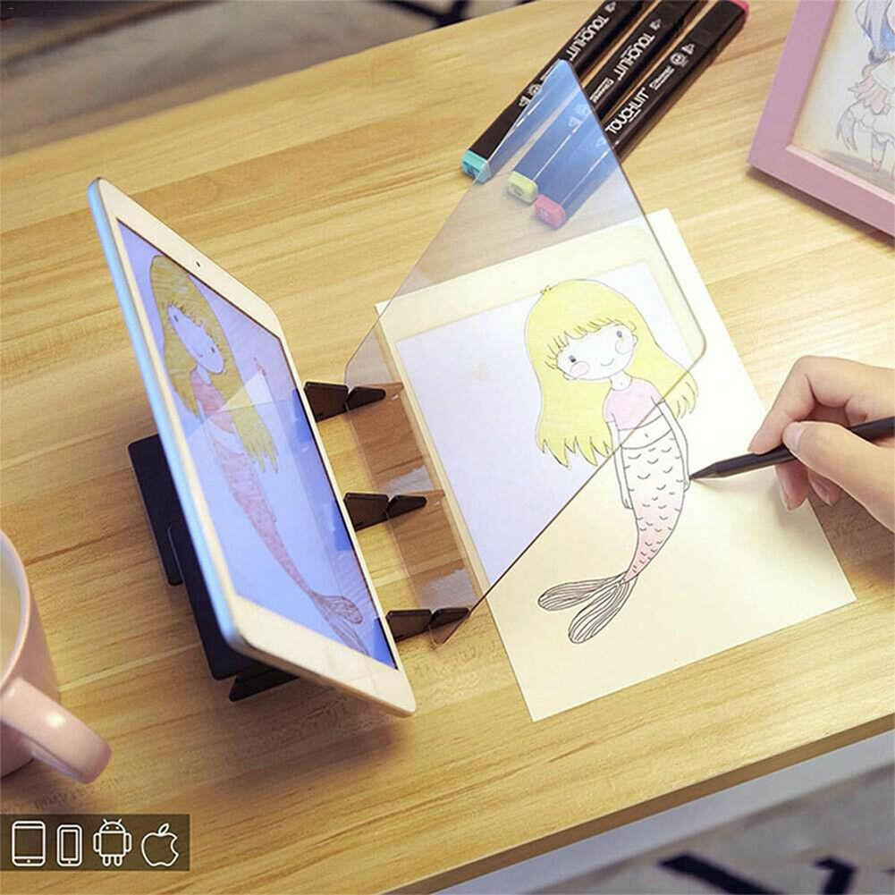 Newest LED Optical Reflection Tracing Painting Board Copy Pad Anime Paint Art Drawing Sketching Tool Dimming Bracket Holder