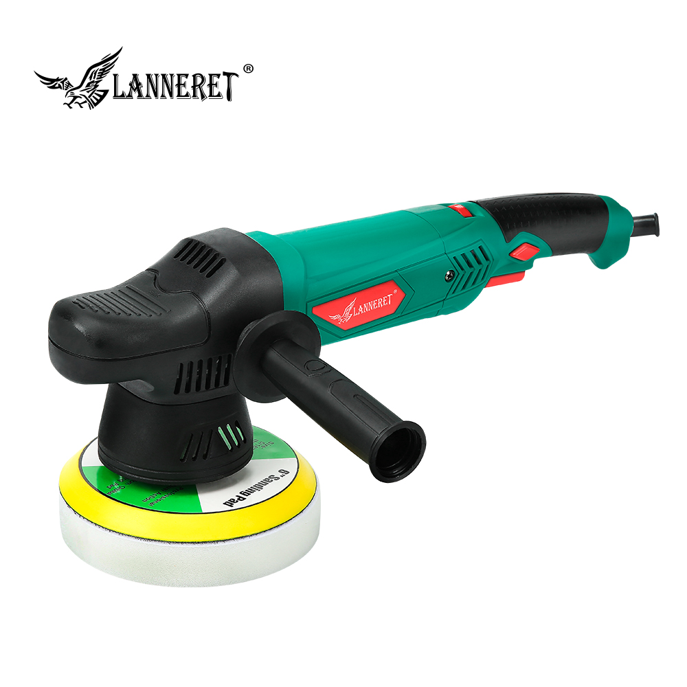 LANNERET 6'' Dual Action Polisher 900W Variable Speed Electric Polisher Shock And Polishing Machine Cleaner Polishing Pad