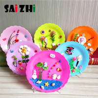Saizhi Children 3D Handmade Art Crafts Shell Painting Educational DIY Creative Adhesive Natural Conch Stickers Gift Box Toy