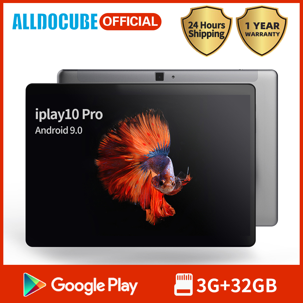 Alldocube Tablet IPlay10 Pro 10.1 Inch IPS Screen MT8163 Quad Core 3GB RAM 32GB ROM Android 9.0  Dual Camera GPS Wifi BT4.0