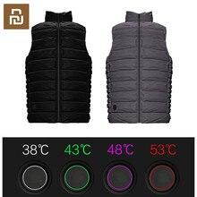 Grafeno elétrico usb quente de volta ganso para baixo colete aquecimento jaqueta corrida casaco melhor para o inverno de youpin