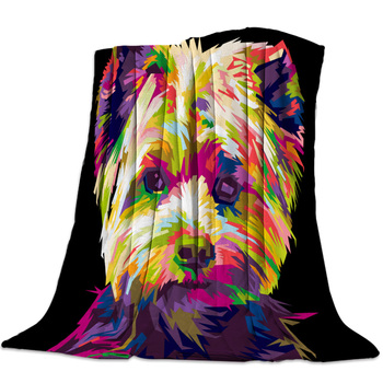 Dog Cute Colored Throw Blanket Bedspread Soft Fleece Blanket Air/Sofa/Bedding Winter Bedsheet фото