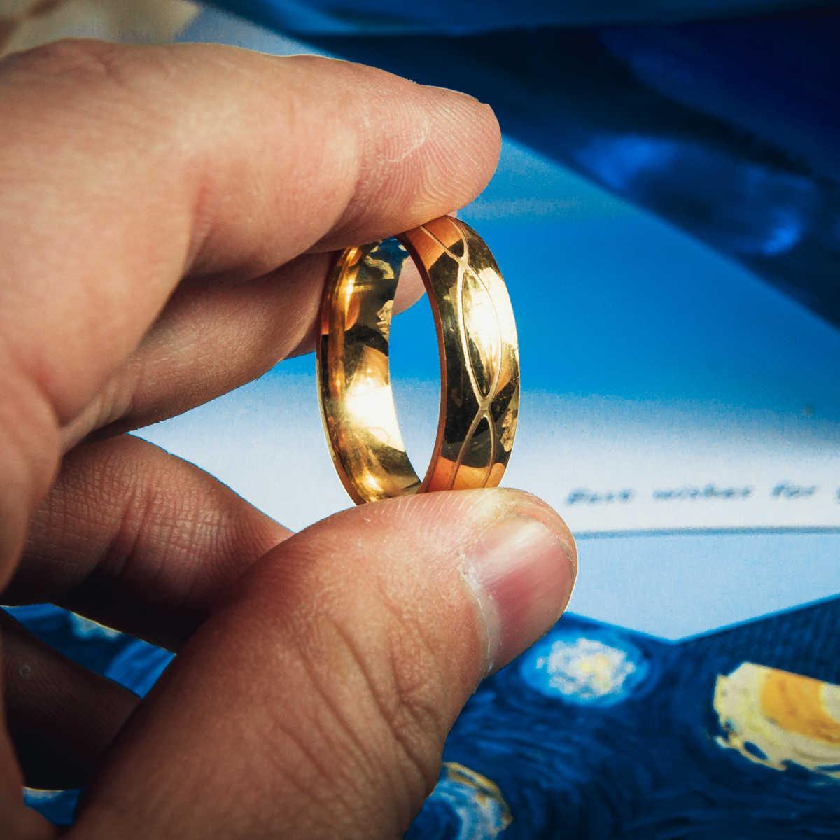 ステンレス鋼リング女性男性クリスタルカップル愛好家のためのゴールドウェディングバンド婚約パーティージュエリー aneis ブルガリア
