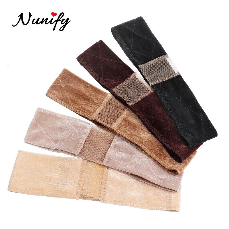 Nunify Adjustable Soft Velvet Women Lace Wig Grips Headband Hair Scarf Band Non-Slip Adjustable Soft Velvet Women Lace Wig Grips