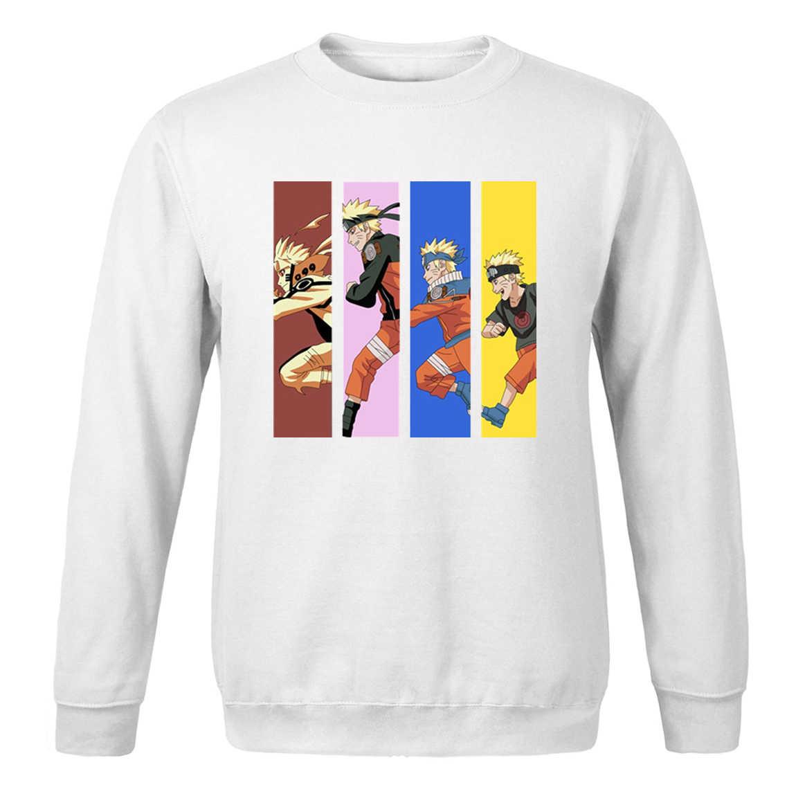 Japón Anime Naruto chándales para hombres primavera otoño 2020 moda masculina polar Streetwear Pullover superior de dibujos animados Naruto sudadera