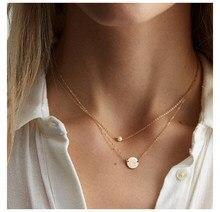 Jujie minimalista 316l aço inoxidável pérola colares para mulher 2020 simples corrente de ouro colar jóias dropshipping/atacado