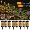 2/4/6/8 Pack Garden Lights Waterproof LED Solar Garden Lights Outdoor Lawn Light Path Lamp for Patio Yard and Garden