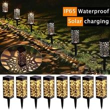 2/4/6/8 Pack Garden Lights Waterproof LED Solar Garden Lights Outdoor Lawn Light Path Lamp for Patio Yard and Garden