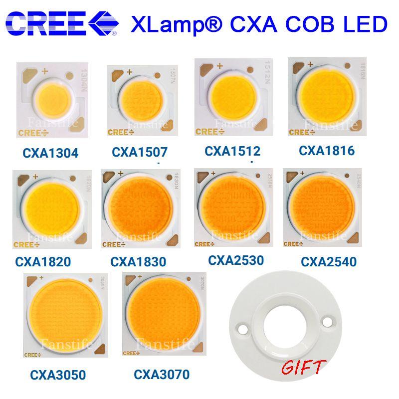 CREE COB CXA1304 CXA1507 CXA1512 CXA1816 CXA1820 CXA1830 CXA2011 CXA2520 CXA2530 2540 CXA3050  CXA3070 High Power Led Spotlight