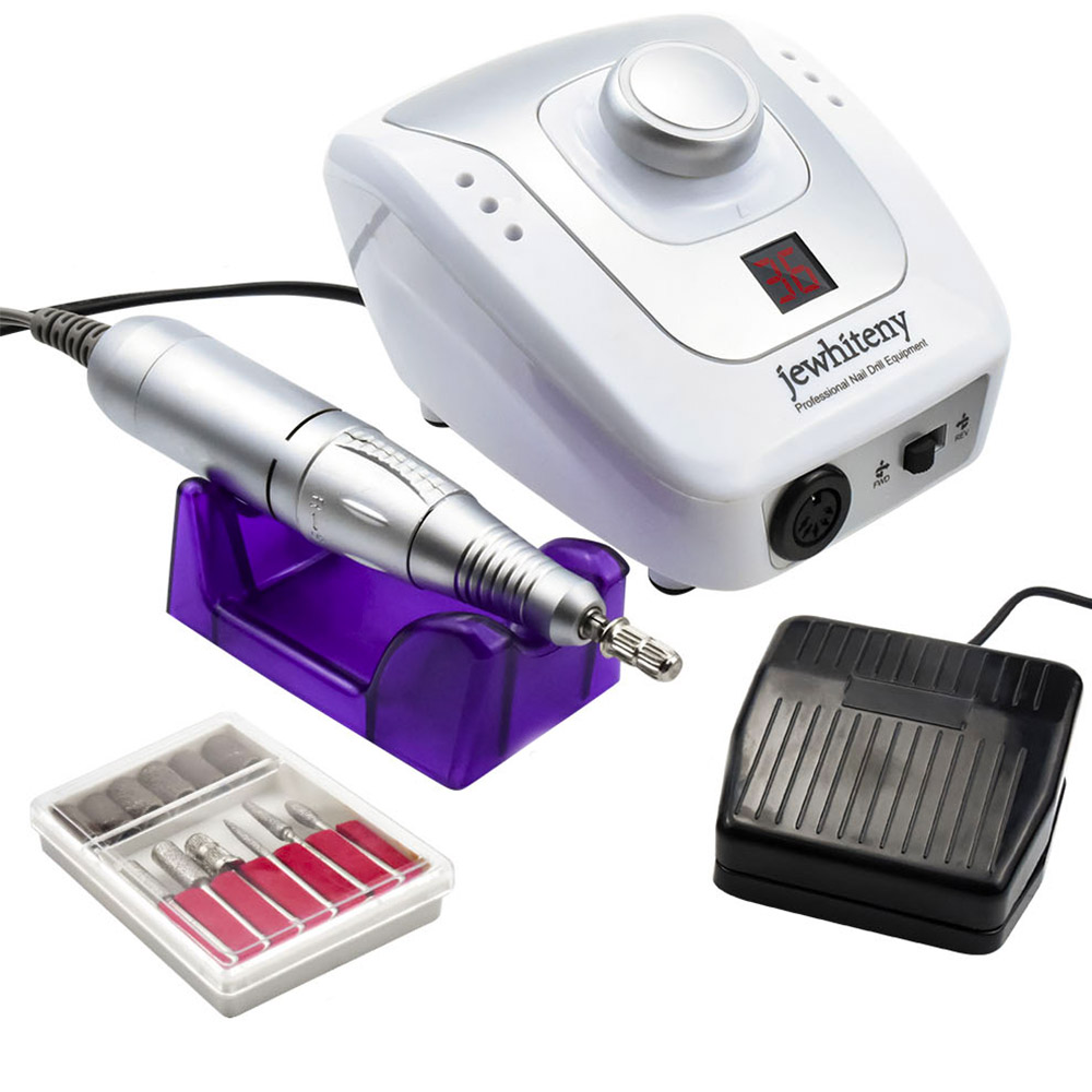 32W 35000RPM Electric Nail Drill Nail Equipment Manicure Machine Tools Pedicure Acrylics Milling Nail Art Drill Pen Machine Set