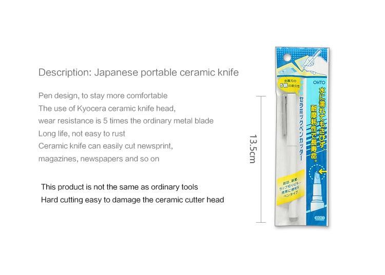 cerâmica artista criativo faca importado kyocera lâmina papelaria