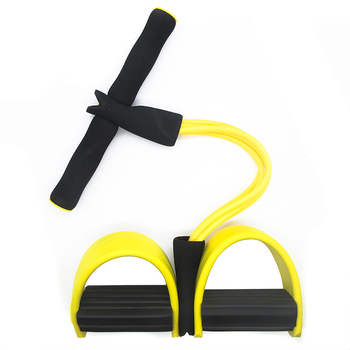 4 Tubes Resistance Bands Elastic Pull Ropes Exerciser Rower Belly Home Gym Sport Training Elastic Band For Fitness Equipment 11