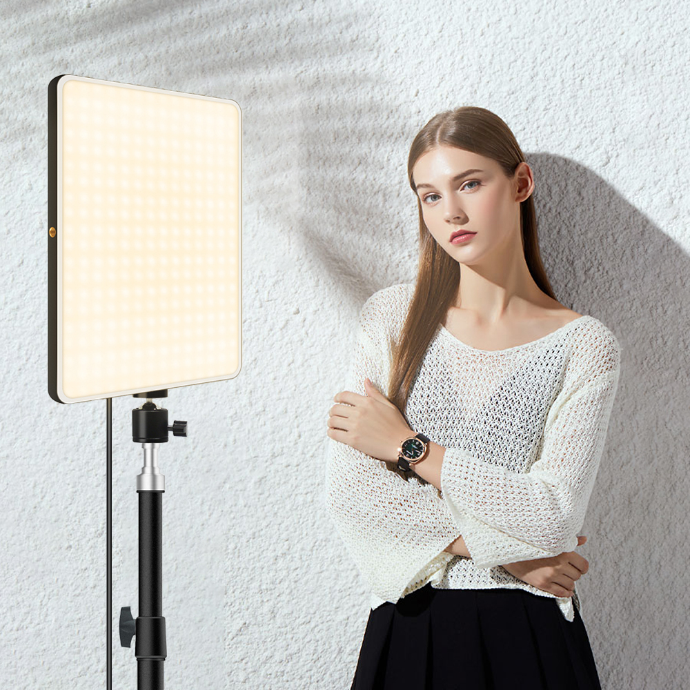 Hd90e634f11194c6b92ce8d3d348c33f9p LED Video Light With Professional Tripod Stand Remote Control Dimmable Panel Lighting Photo Studio Live Photography Fill-in Lamp