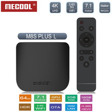 Mecool M8s Plus L TV Box Android 7.1 Amlogic S912 Octa Core 2GB DDR3 + 16G ROM 2.4G WIFI Android Tvbox Bluetooth/USB Set Top Box(China)