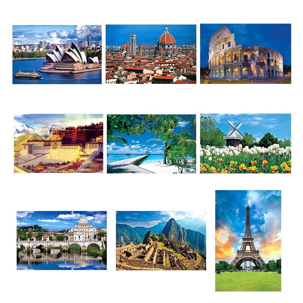 1000Pcs Adult Kid Puzzle Jigsaw Tulip Beach Building Decompression Game Toy Gift  Jigsaw Baby Intelligence Development Toys