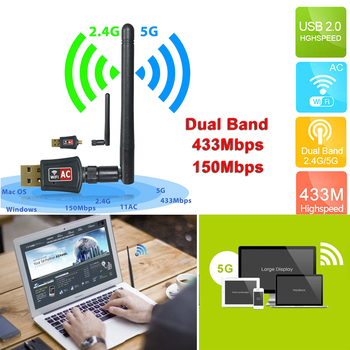 SOONHUA Network Card 600 Mbps Dual Band Network Cards 2.4/5Ghz Wireless USB WiFi Network Adapter With CD Diver Dropshipping