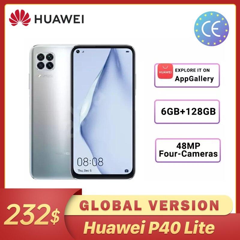 Em Estoque Huawei P40 lite Versão Global 6GB 128GB Grande Scree 48MP AI Câmeras Smartphone Kirin 810 Смартфоны 40W Carregador Rápido