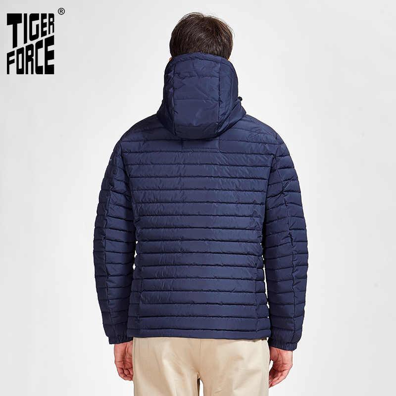 TigerForce2020 nuevas chaquetas de alta calidad para hombre primavera otoño cremallera Parkas abajo chaqueta para hombres abrigos casuales 50629