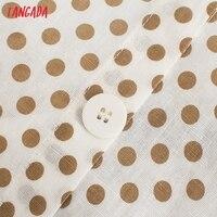 Tangada 2021 Fashion Women Dots Print Halter Dress Sleeveless Backless Buttons Female Casual Dress 5Z241 3