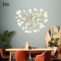 Fss luxo sala de estar lâmpadas iluminação lustre atmosfera simples e moderna luz personalidade criativa quarto lustres firefly Lustres Luzes e Iluminação -