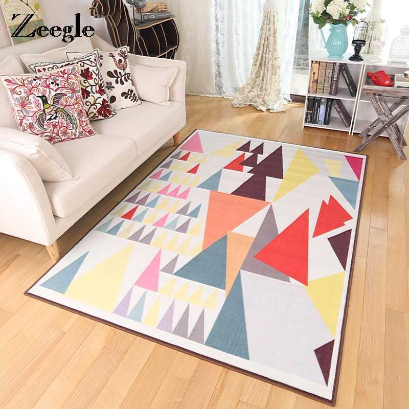 Zeegle ковры в скандинавском стиле для гостиной напольный коврик кухонные