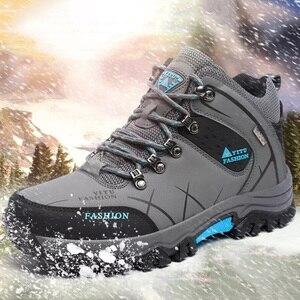 Image 1 - Yeni motosiklet botları su geçirmez erkekler kış çizmeler Moto çizmeler PU deri motosiklet ayakkabı motosiklet Biker binici çizmeleri ayak bileği ayakkabı