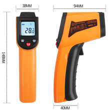Non-contact laser infrared thermometer ir temperature tester GM400 ms6540a non contact infrared thermometer temperature tester 32c to 850c 25f to 1562f 30 1 d s page 1