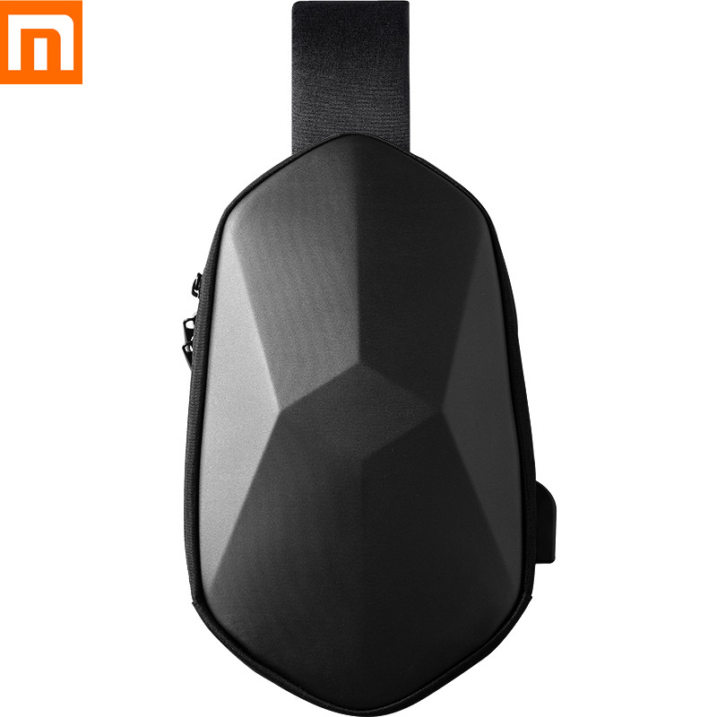 Xiaomi Mijia BEABORN Polyhedron PU Backpack Bag Waterproof Colorful Leisure Sports Chest Pack Bags For Mens Women Travel Camping