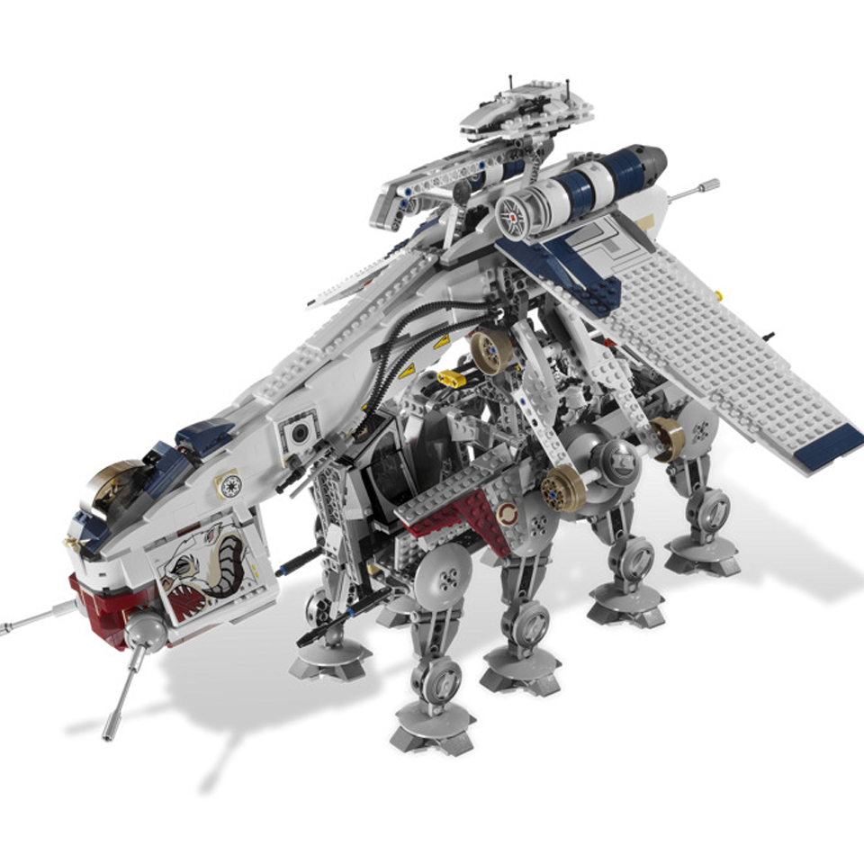05053 1788Pcs Genuine StarWas Republic Dropship with AT-OT Walker Set Building Blocks Bricks Compatible Lepining <font><b>10195</b></font> Toys image