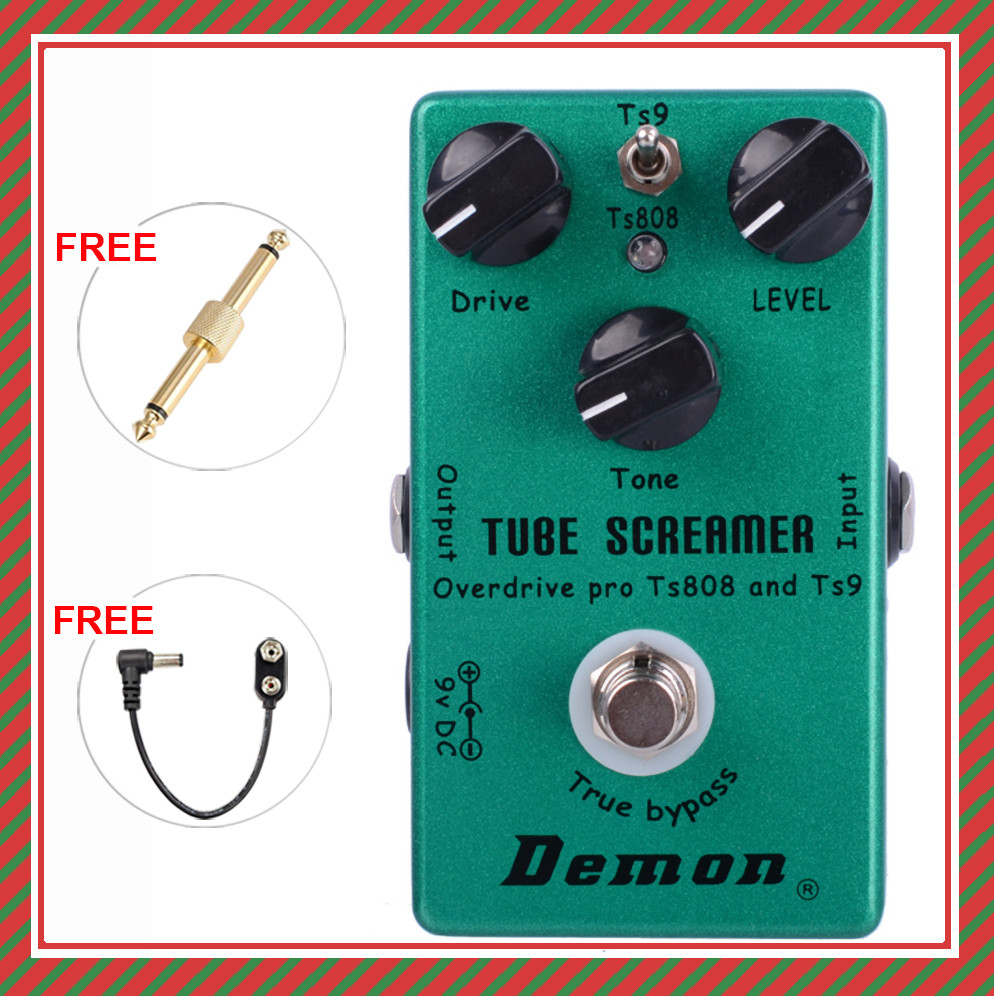 United Together The Classic TS9 And TS808, Perfect Upgraded Overdrive, 2 In 1, Tube Screamer Overdrive