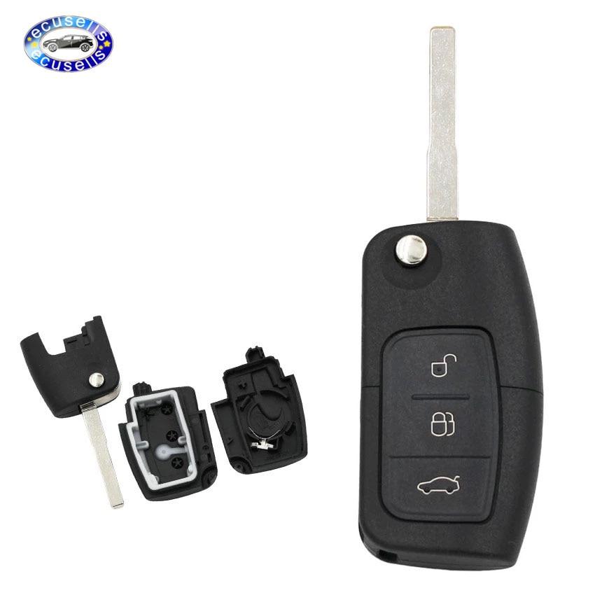 Распродажа! Складной чехол для ключей с 3 кнопками для Focus Fiesta C Max Ka, чехол для ключей Fob HU101 Blade
