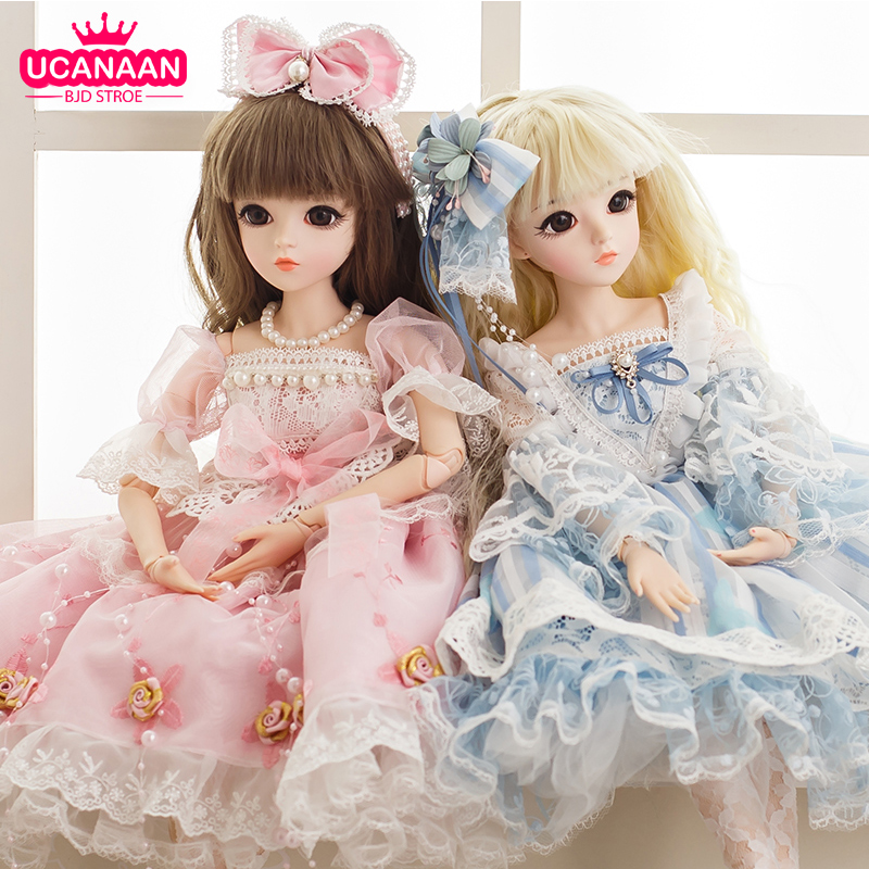 1/3 BJD Dolls 60CM 18 Ball Joints Doll With Full Outfits Clothes Shoes Wig Makeup Toys For Girls Collection Best Birthday Gifts