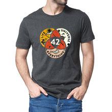 42 a resposta à vida o universo e tudo douglas adams camiseta preta casual camiseta de algodão masculina