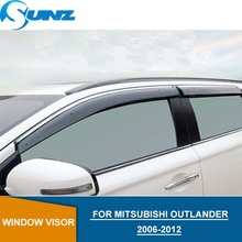 Window Visor for Mitsubishi Outlander 2006-2012 side window deflectors rain guards SUNZ