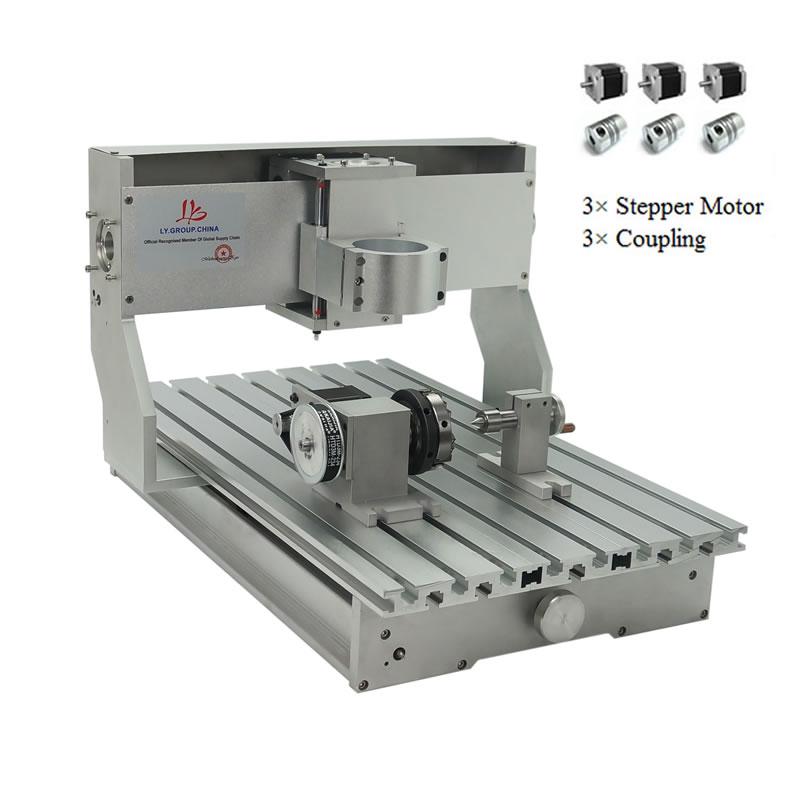 CNC 3040 Rack Engraving Machine Frame 4Axis Kit With Nema23 Stepper Motors CNC Lathe 300x400mm DIY Parts