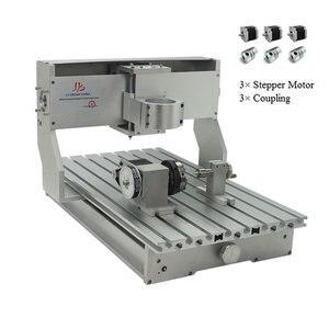 Image 1 - Cnc 3040 Rack Graveermachine Frame 4Axis Kit Met Nema23 Stappenmotoren Cnc Draaibank 300X400Mm Diy onderdelen