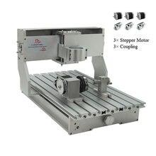 Marco de máquina de grabado en Rack CNC 3040, Kit de 4 ejes con motores paso a paso Nema23, torno CNC, piezas de bricolaje de 300x400mm